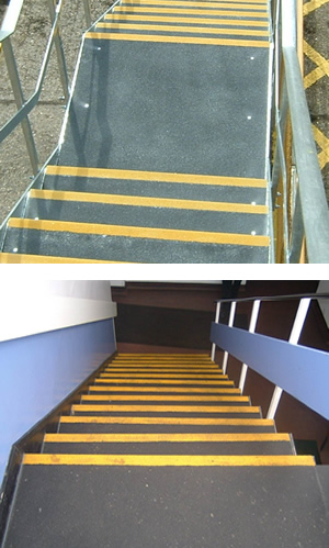 TreadSafe® GRP Stair Treads and Landing Covers